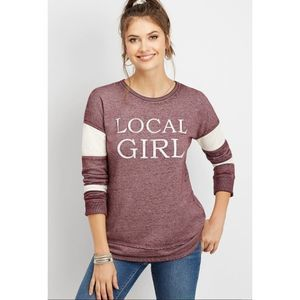 """Maurices """"Local Girl"""" Graphic Pullover Sweatshirt"""